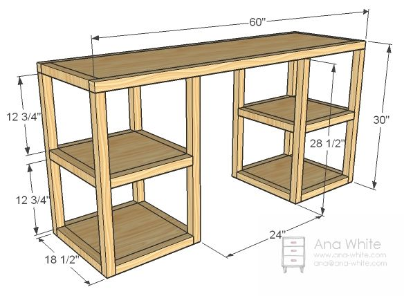 Creative of Computer Desk Blueprints Best 25 Desk Plans Ideas On Pinterest Build A Desk Diy Desk