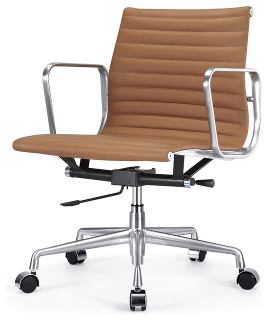 Creative of Contemporary Office Chair Ribbed Back Office Chair Leather Contemporary Office Chairs