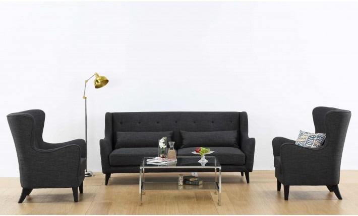 Creative of Dark Grey Sofa Set Buy Houston Dark Grey Sofa Set Online Furnspace