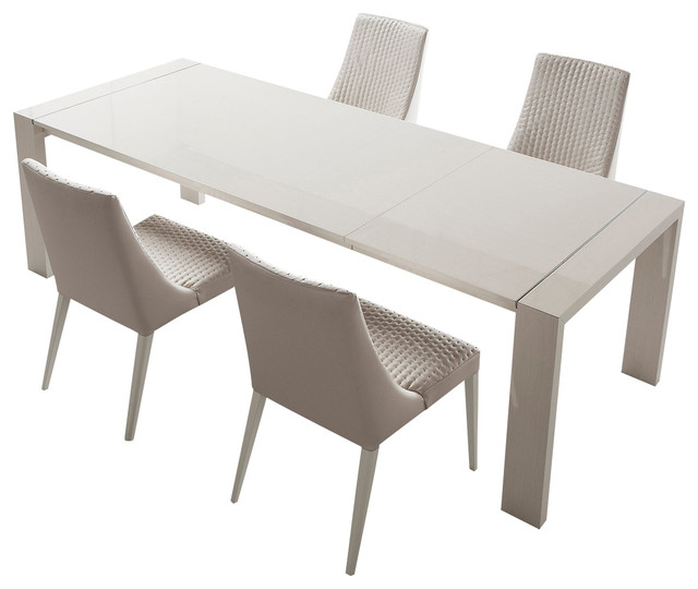Creative of Dining Table Extendable Modern Domino Extendable Dining Table Dining Sets Inmod