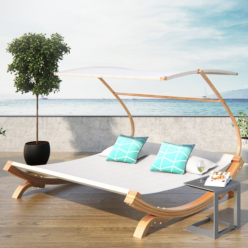 Creative of Double Chaise Lounge Outdoor Latitude Run Rhett Friendship Harbor Double Chaise Lounge With
