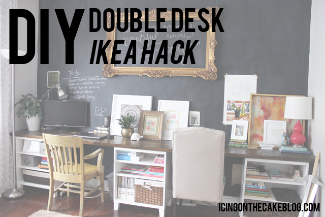 Creative of Double Desk Ikea Diy 12 Foot Long Double Desk Icing On The Cake Blog