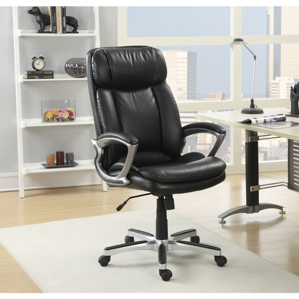 Creative of Executive Leather Office Chair Serta Executive Smooth Black Big And Tall Puresoft Faux Leather