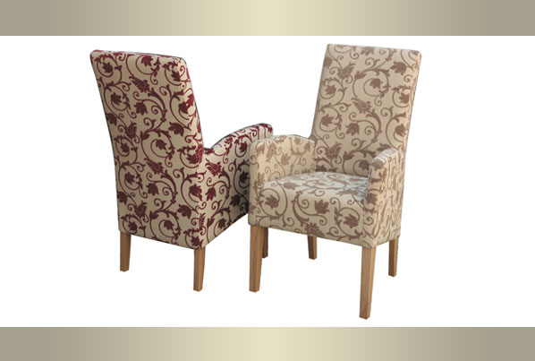 Creative of Fabric Dining Chairs With Arms Fabric Chairs From Wentworth Furniture