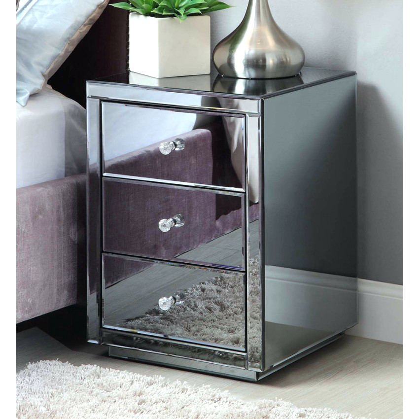 Creative of Glass Bedside Table Ikea Side Table Mirrored Bedside Table Uk Venetian Mirrored Bedside