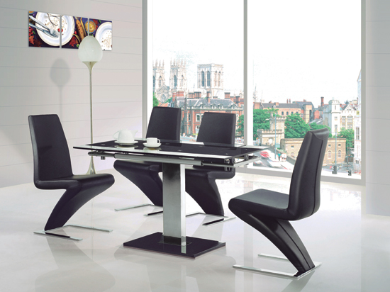 Creative of Glass Extendable Dining Table Set Best Black Glass Extending Dining Table Elite Dining Sets With
