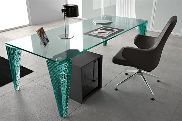 Creative of Glass Office Desk Office Glass Table Amazing Kitchen Design Or Other Office Glass