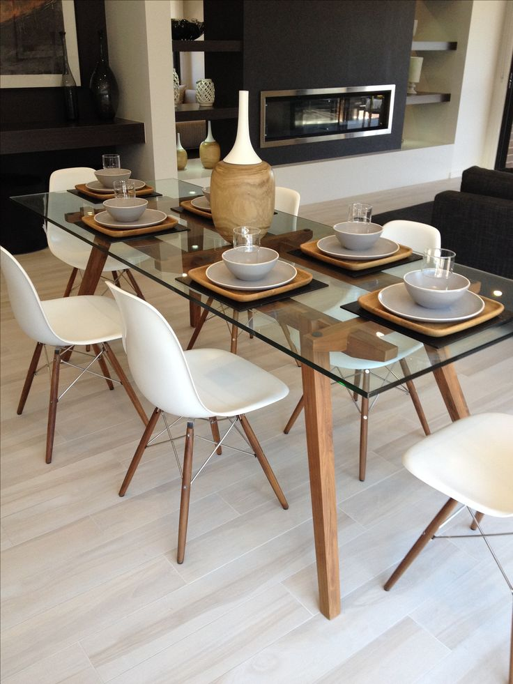 Creative of Glass Top Dining Table Best 25 Glass Dining Table Ideas On Pinterest Glass Dining Room