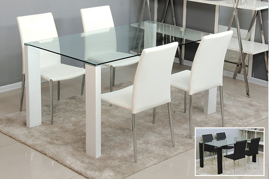 Creative of Glass Top Modern Dining Table Dining Room Small Modern Glass Dining Table With White Wooden