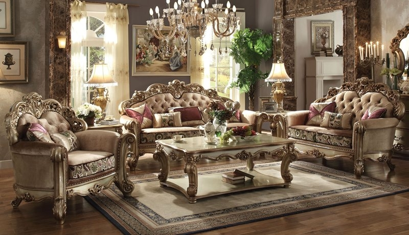 Creative of Gold Living Room Chairs Dallas Designer Furniture Vendome Formal Living Room Set In Gold