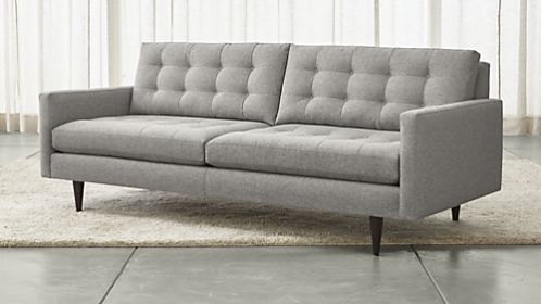 Creative of Gray Leather Sofa And Loveseat Sofas Couches And Loveseats Crate And Barrel