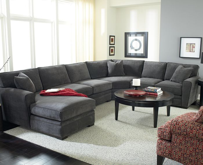 Creative of Grey Microfiber Sectional With Chaise Artemis Sectional Jonathan Louis Choose Your Preferred Style