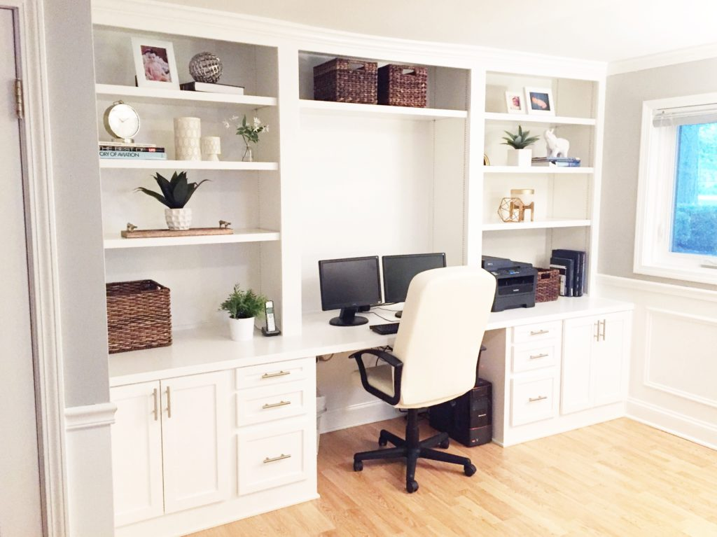 Creative of Home Built Desk Built In Desk Reveal The Cofran Home
