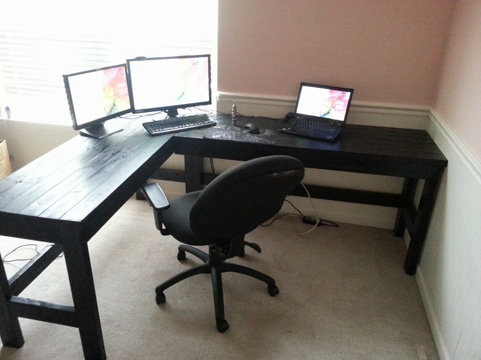 Creative of Home Built Desk More Like Home Day 2 Build A Casual Desk With 2x4s