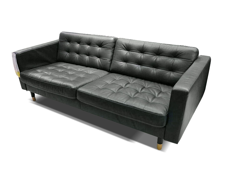 Creative of Ikea Black Leather Sofa Bed Karlstad Discontinued Welcome Landskrona Sofa Review
