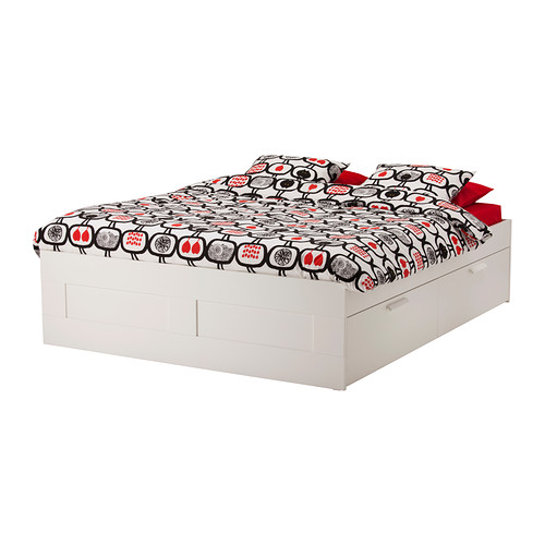 Creative of Ikea Double Bed With Drawers Brimnes Bed Frame With Storage Full Ikea