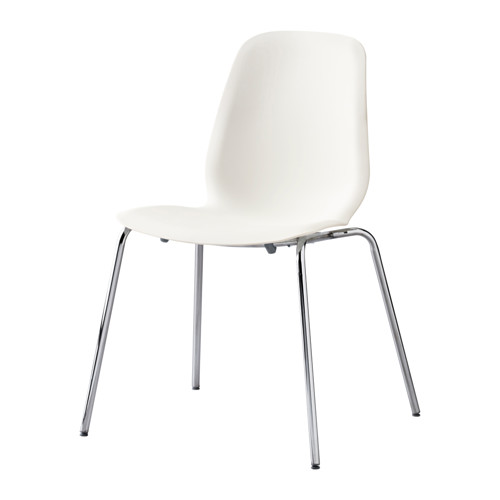 Creative of Ikea White Chair Leifarne Chair Whitebroringe Chrome Plated Ikea