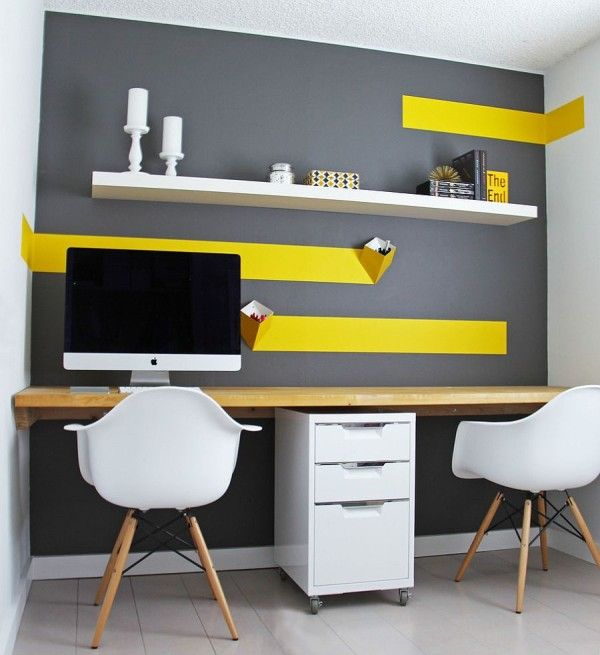 Creative of Inexpensive Home Office Desk Best 25 Yellow Home Offices Ideas On Pinterest Yellow Drawers