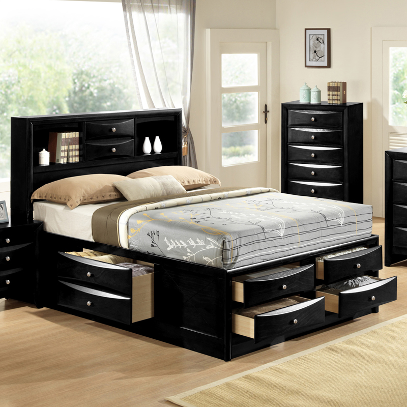 Creative of King Bed With Drawers Awesome King Size Platform Bed With Drawers And Headboard 13 In
