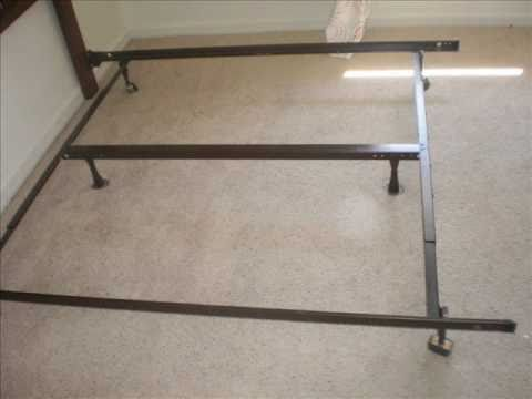 Creative of King Size Metal Bed Base How To Piece Together A King Frame Youtube