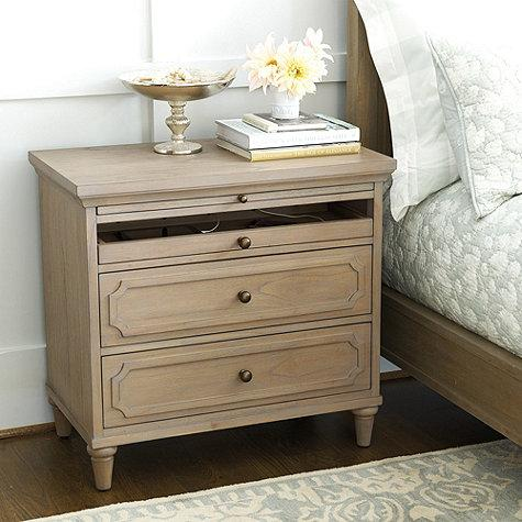 Creative of Large Night Stand Tables Isabella Large Nightstand With Charging Station
