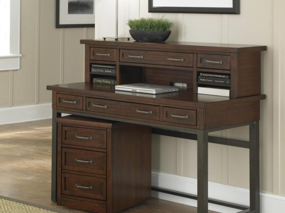 Creative of Large Wooden Office Desk Office Desk Incredible Enchanting Dark Brown Wood Computer Desk