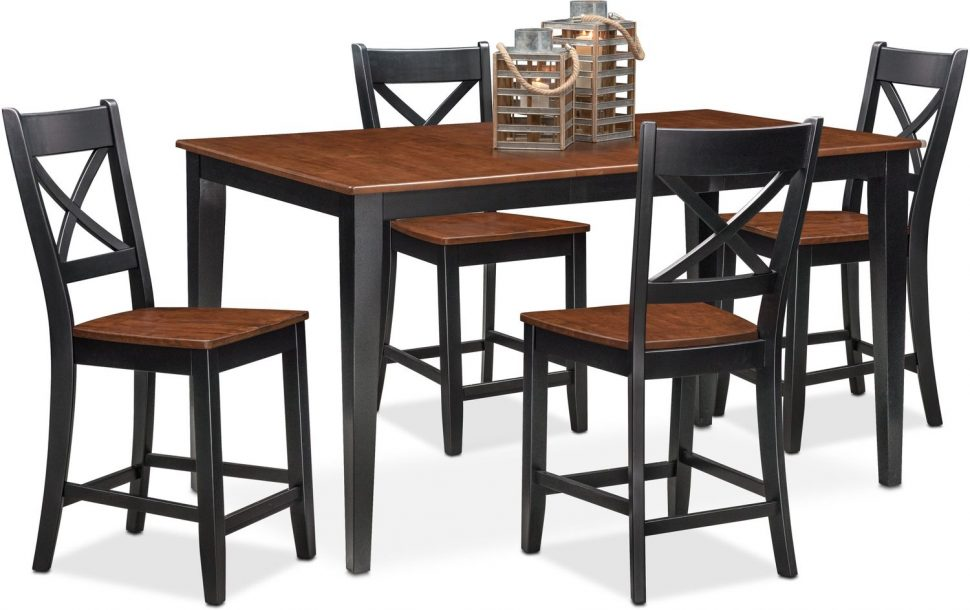Creative of Leather Dining Chairs Set Of 4 Dining Room Bar Height Table And Chairs For Sale Counter Height