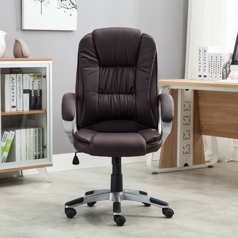 Creative of Leather Executive Chair Andover Mills Stapleford Executive Chair Reviews Wayfair