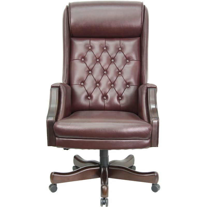Creative of Leather Executive Chair Flash Furniture Leather Executive Chair Reviews Wayfair