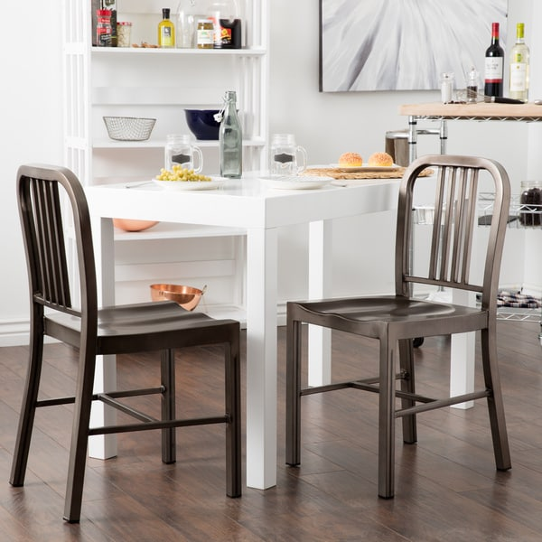 Creative of Metal Dining Chairs Vintage Metal Dining Chairs Set Of 2 Free Shipping Today