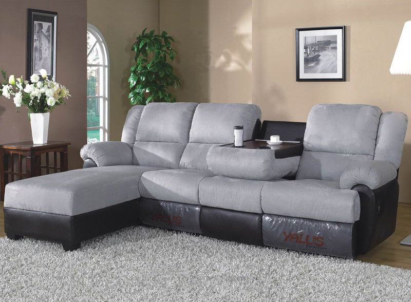 Creative of Microfiber Reclining Sectional With Chaise Charming Sectional Sofa With Chaise And Recliner Brown Microfiber