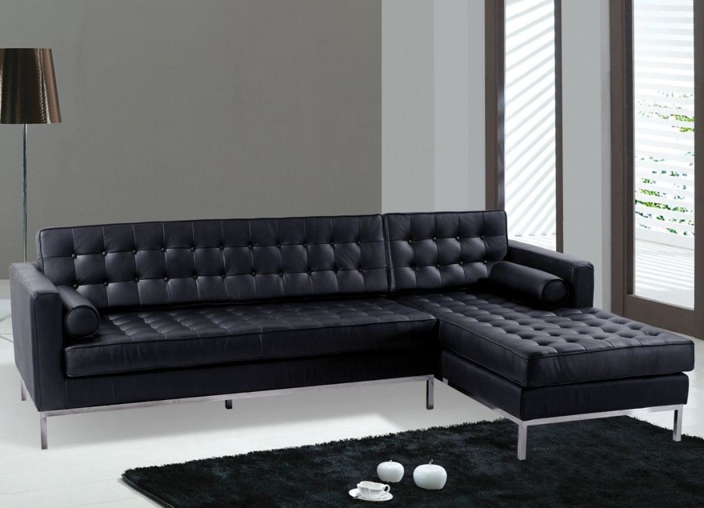 Creative of Modern Black Leather Couch Sofa Luxury Tufted Modern Leather Sofa Pretty Black Sofas 5