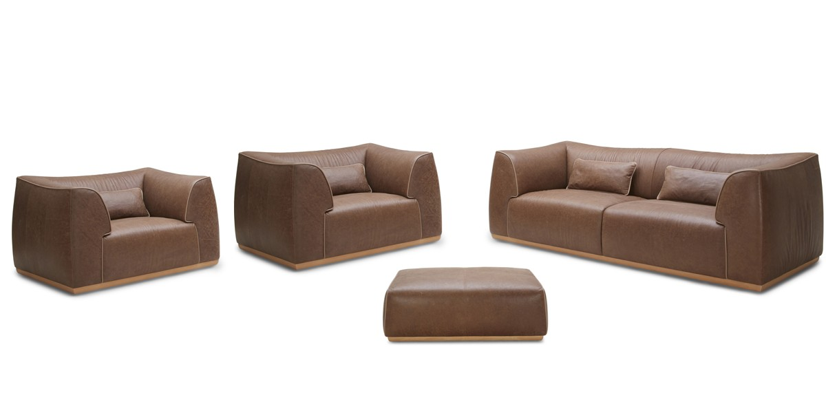 Creative of Modern Brown Leather Sofa Casa Garner Modern Brown Leather Sofa Set
