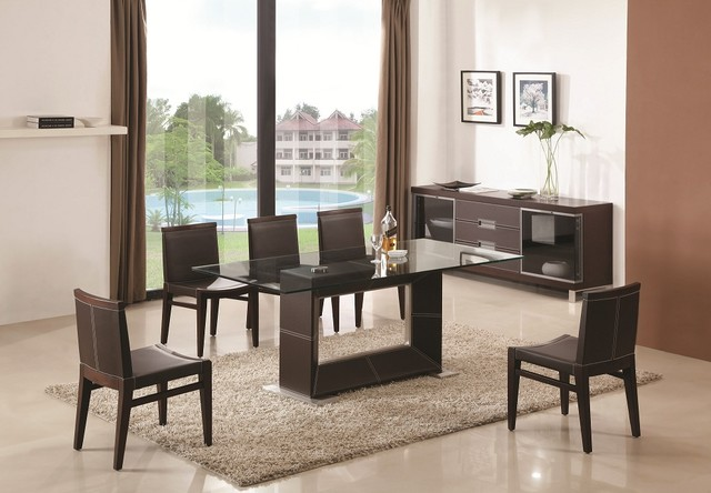 Creative of Modern Glass Dining Room Sets Glass Topped Dining Room Tables Amusing Design Dining Room The