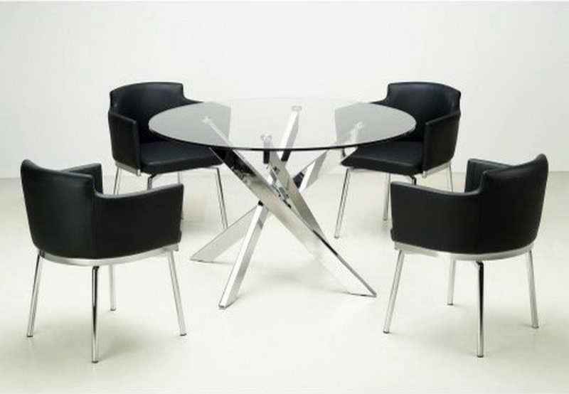 Creative of Modern Glass Round Dining Table Dining Table Chairs Modern The Media News Room