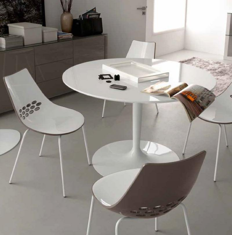 Creative of Modern Glass Round Dining Table White Glass Round Dining Table Round Designs