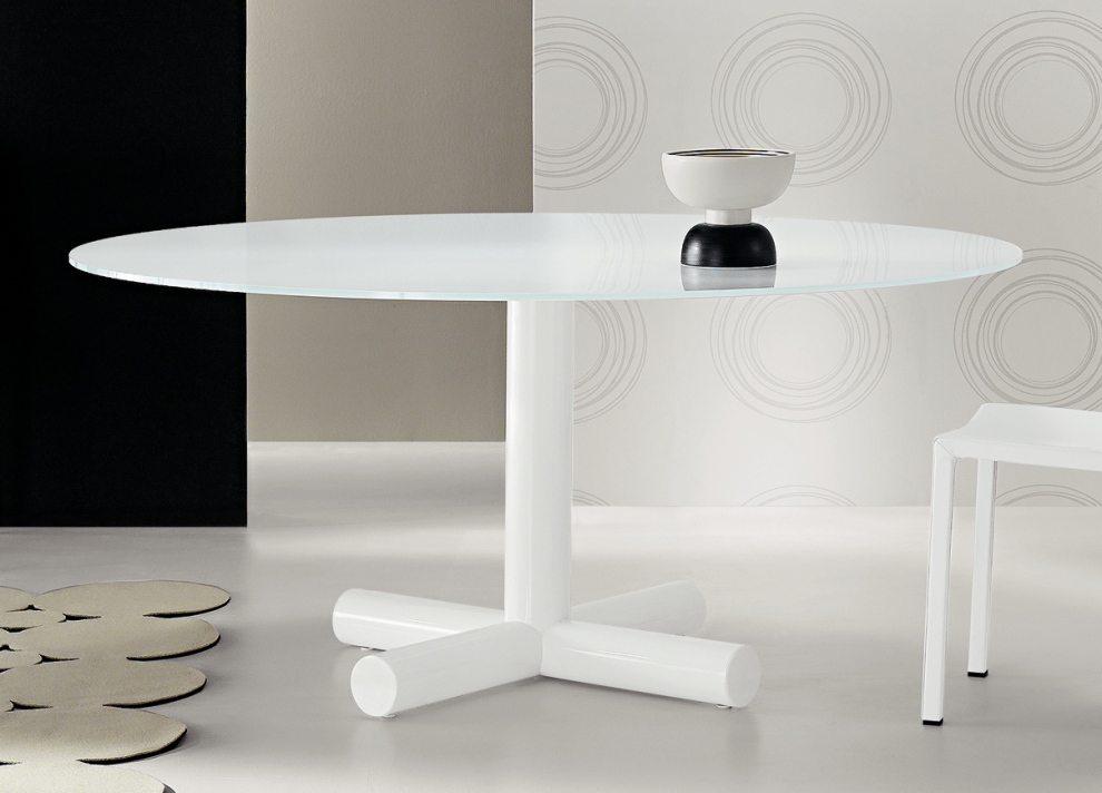 Creative of Modern Round White Dining Table Surfer Round Dining Table Contemporary Round Dining Tables Bonaldo