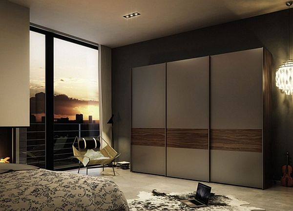 Creative of Modern Wardrobe Designs For Bedroom Modern Bedroom With Wooden Sliding Door Wardrobe Door Ideas Home