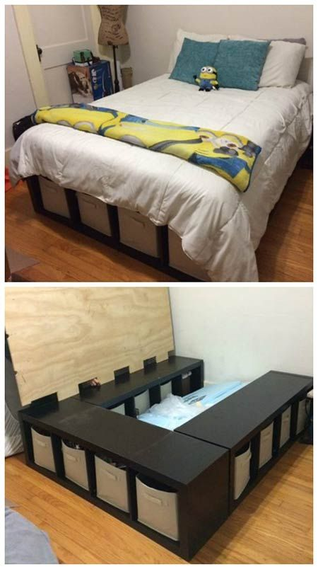 Creative of Places To Get Bed Frames Best 25 Bed Frame Storage Ideas On Pinterest Diy Bed Frame