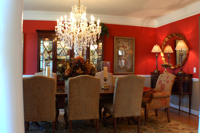 Creative of Red Upholstered Dining Room Chairs Amanda Burdge Ab Home Interiors Traditional Dining Room