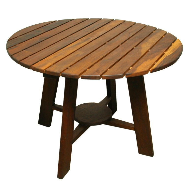 Creative of Round Table Wood Exotic Wood Round Outdoor Dining Table Sergio Rodrigues For