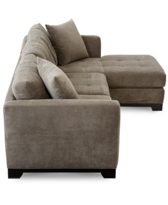 Creative of Sectional Sofa With 2 Chaises Elliot Fabric Microfiber 2 Pc Chaise Sectional Sofa Furniture