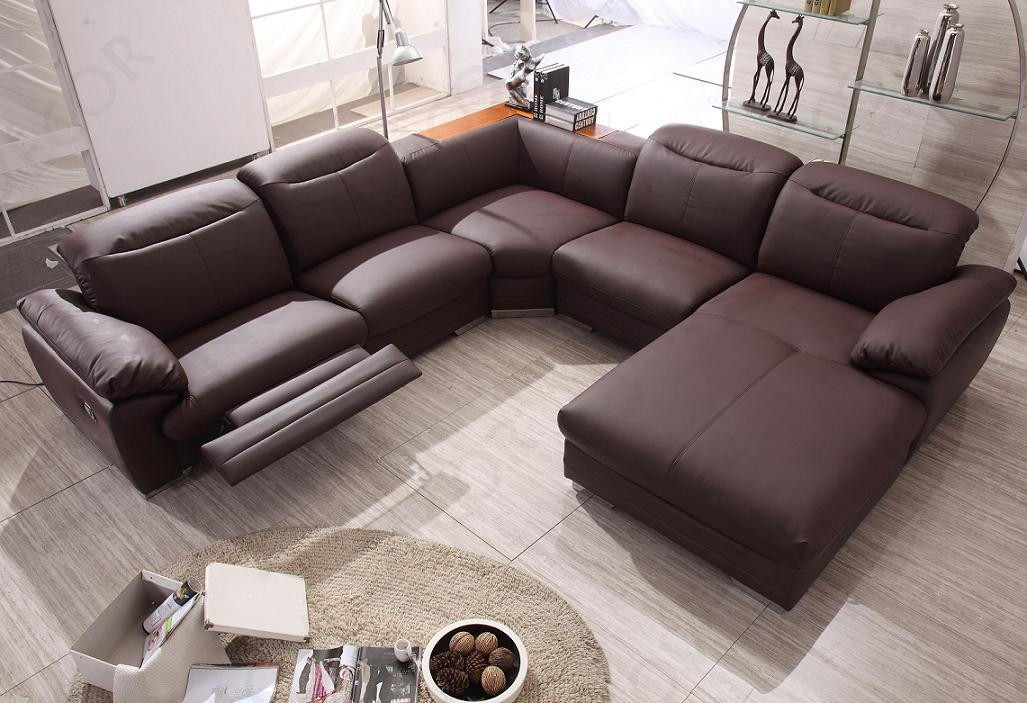 Creative of Sectional Sofas With Recliners Contemporary Sectional Sofa With Recliner All Contemporary Design