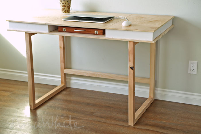 Creative of Simple Modern Desk Ana White Modern 2x2 Desk Base For Build Your Own Study Desk