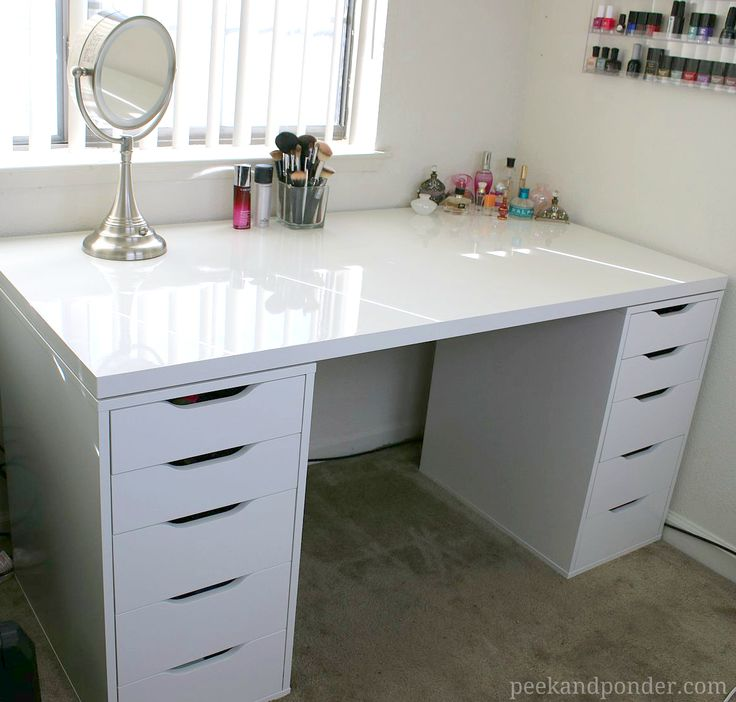 Creative of Small Desk With Drawers Ikea Best 25 Makeup Vanity Desk Ideas On Pinterest Vanity Area