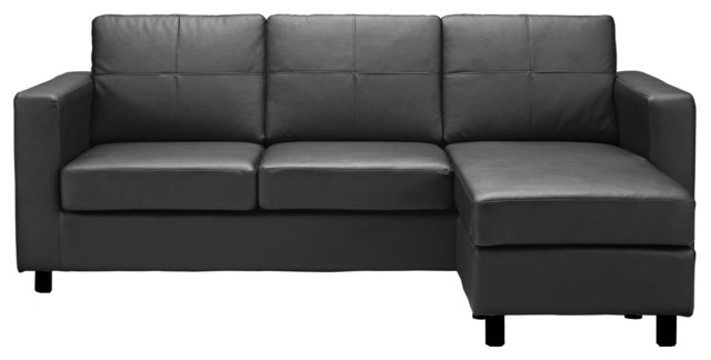 Creative of Small Leather Sectional Couch Modern Bonded Leather Sectional Sofa Small Space Configurable