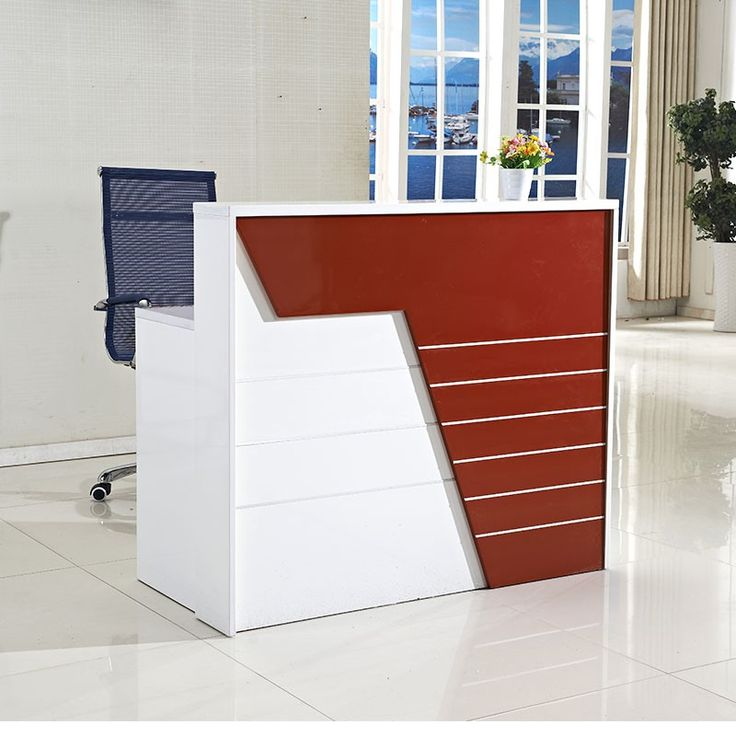Creative of Small Office Table High End Modern Office Furniture Small Reception Desk Beauty Salon