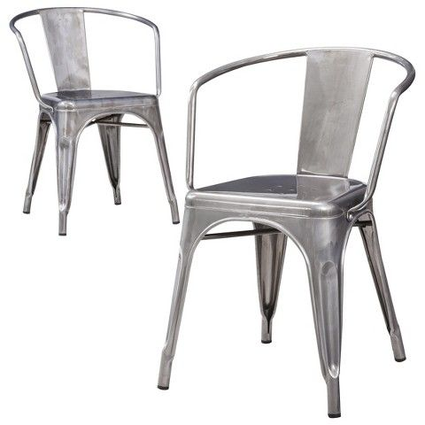 Creative of Steel Dining Chairs Farmhouse Dining Chairs For Under 100 Each