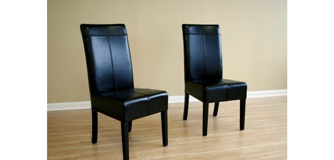 Creative of Tall Back Leather Dining Chairs Black Leather High Back Dining Chairs Set Of 2