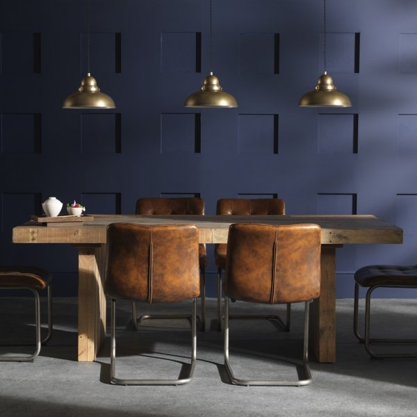 Creative of Tan Dining Room Chairs Dining Room Buy Rustic Chunky Plank Recycled Wood Set Industrial